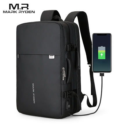 "MARK RYDEN 17"" Ultra-functional & Expandable (23L-39L) Travel Backpack with USB Charging Port"