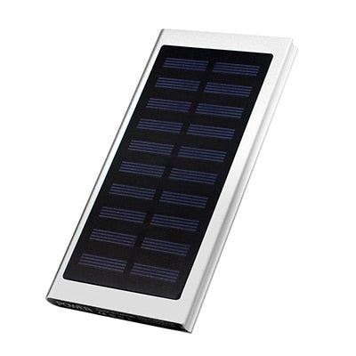 Ultra Thin 20000mah Portable Solar Power Bank External Battery Charger 2 USB LED Powerbank For Xiaomi iPhone Samsung Huawei - I Have Wanderlust