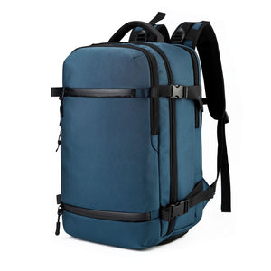 The OZUKO Large Capacity Travel Pack with Rain Cover and Shoe Compartment (2 Sizes/4 Colors) - I Have Wanderlust