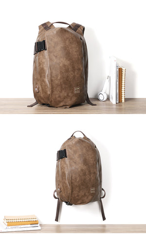 DIDE Leather USB Charging Large Capacity Gentlemen's Shell Laptop Rucksack (3 Colors) - I Have Wanderlust