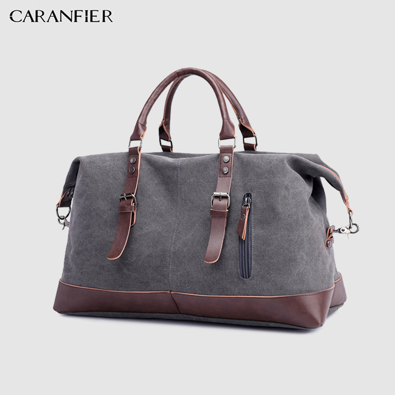 CARANFIER Canvas And Leather 22'' Weekend Bag (6 Colors) - I Have Wanderlust