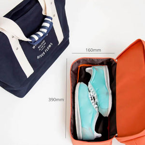 Walking In The Air Weekend Travel Tote with Hidden Shoe Cubby (4 Colors) - I Have Wanderlust