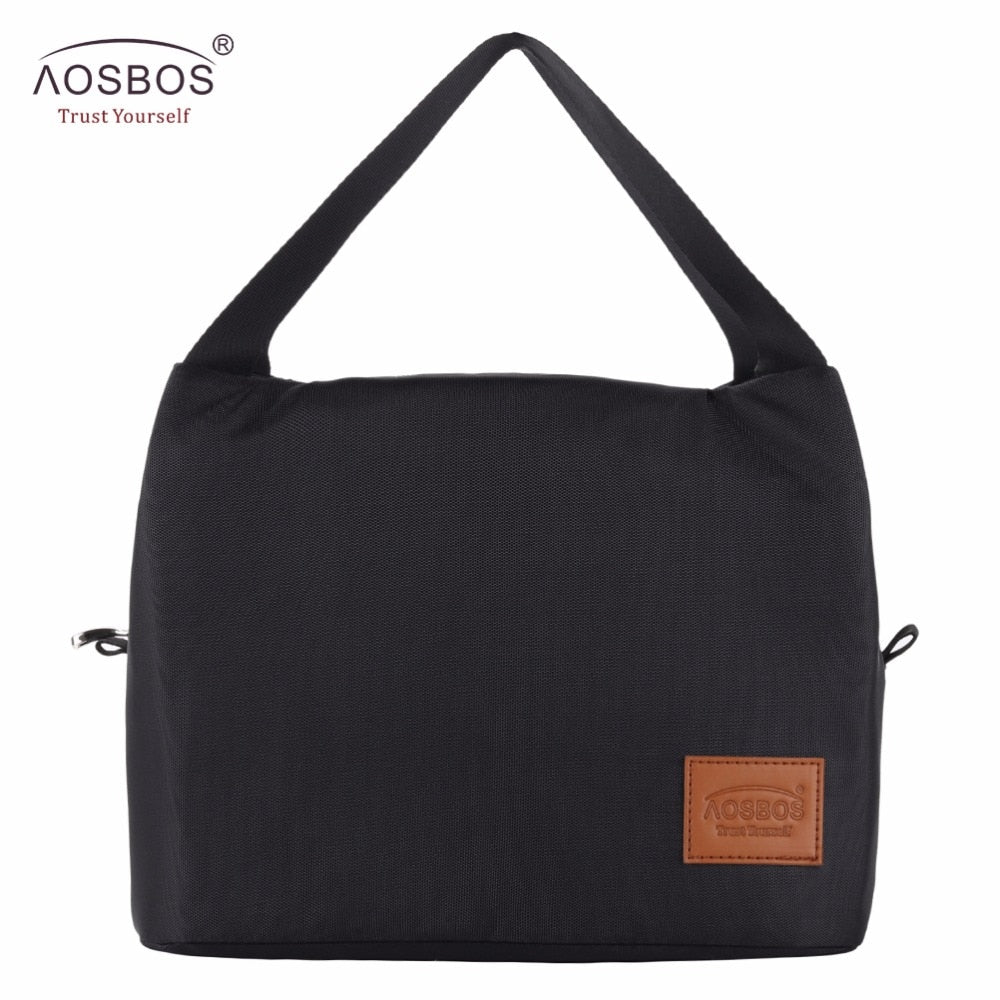 AOSBOS Thermal Insulated Lunch Bags (4 Colors/ 2 Sizes) - I Have Wanderlust