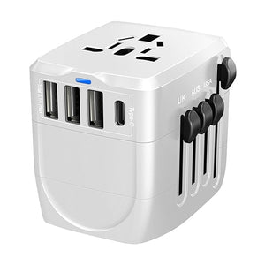 Smart Type-C plus 3 USB, 2400W 5 Device International Travel Power Adapter for High Power Appliances (3 Colors) - I Have Wanderlust