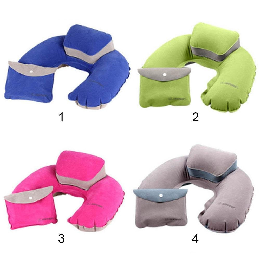 Inflatable U-Shape Neck Pillow with Elevated Neck Support and Storage Bag (4 Colors) - I Have Wanderlust