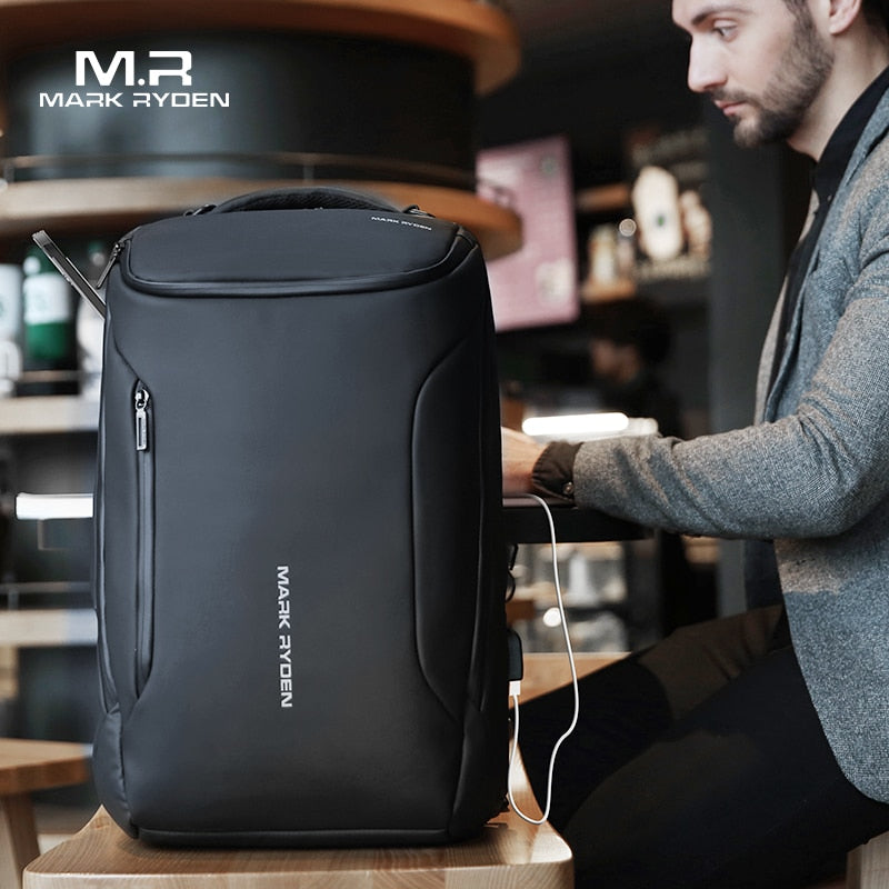 MARK RYDEN Anti-theft Waterproof 15.6 inch Multifunctional Laptop Backpack with USB Charger