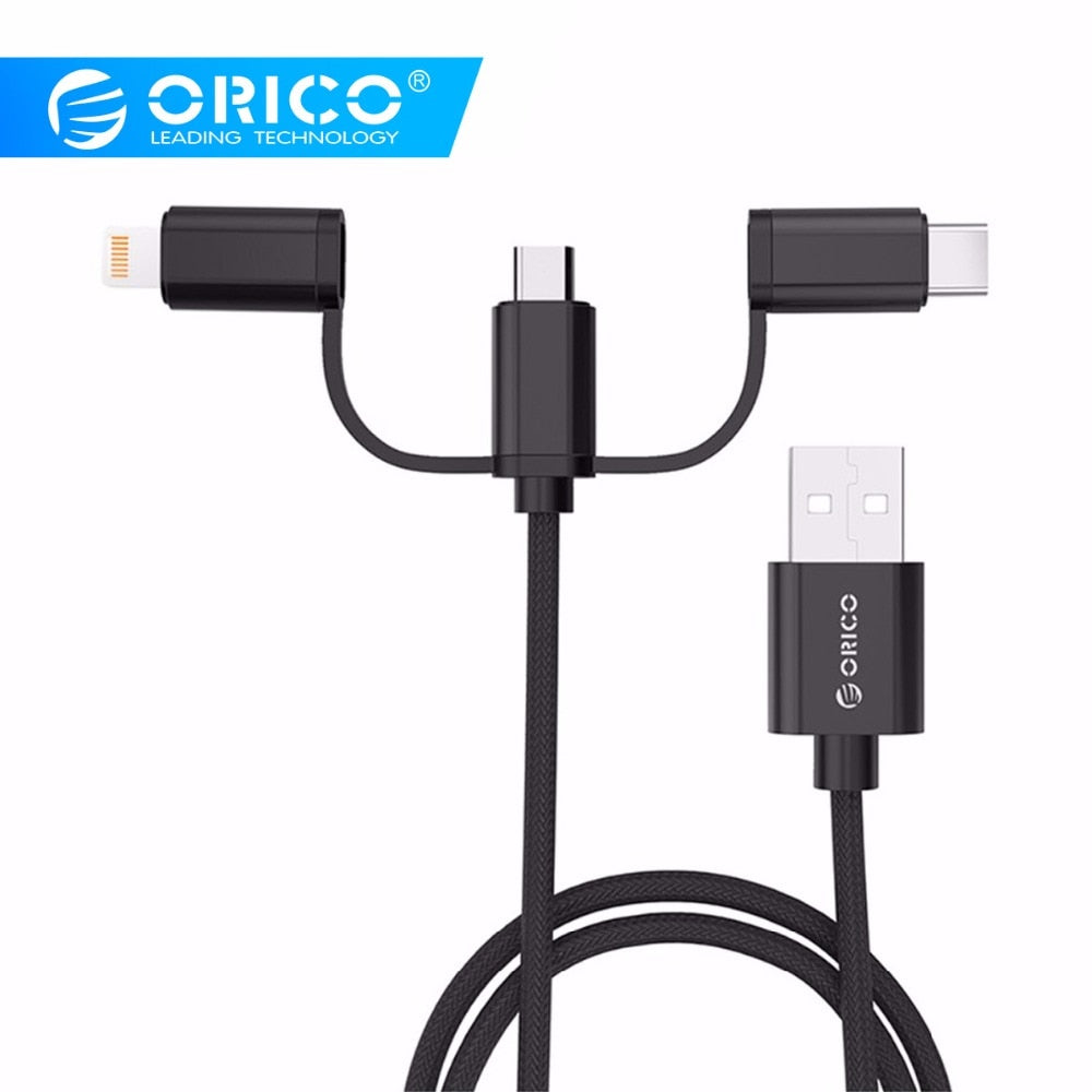 ORICO 3-in-1 Fast Charging Cable (USB-C/Lightning/Mini USB) (2 Colors) - I Have Wanderlust