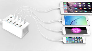 GO2LINK 40W 10 Port USB Fast Charger/Adapter Hub with AiPower Adaptive Charging & Foldable Plug (6 Variants) - I Have Wanderlust