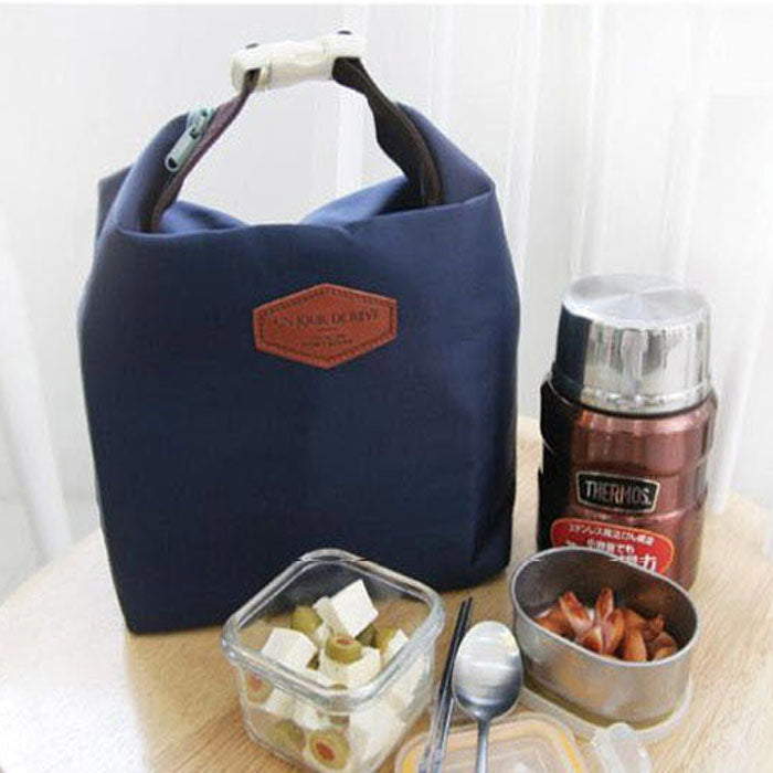 STRIPED DOT Thermal Insulated Food Tote - I Have Wanderlust