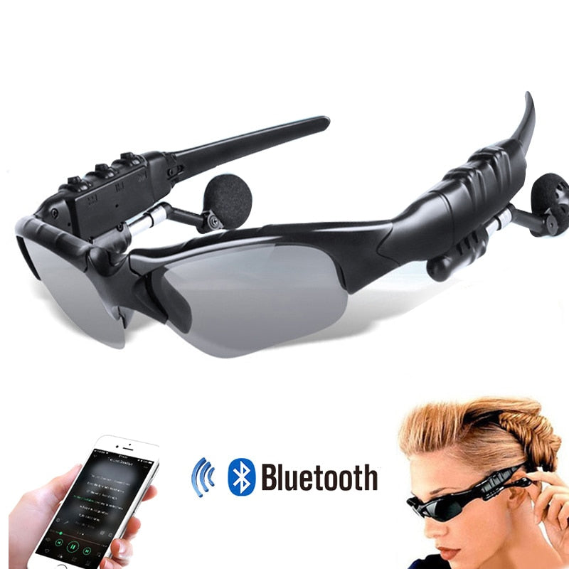 Wireless Bluetooth Sports Sunglasses  With Headset Mic