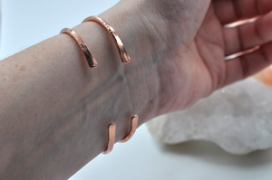 Copper Hammered Cuff Bracelet