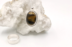 Mondays, November 16th - December 7th: Wide Texture Band & Bezel Set Stone Pendant Class - Beginning Level