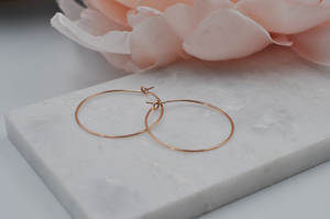 14K Rose Gold Filled Classic Small Hoop Earrings
