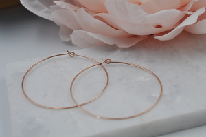 14K Rose Gold Filled Classic Medium Hoop Earrings