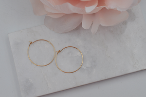 14K Yellow Gold Filled Classic Small Hoop Earrings