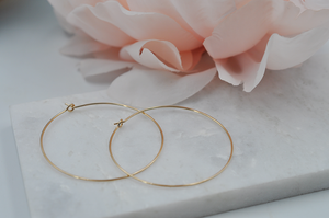 14K Yellow Gold Filled Classic Hoop Earrings
