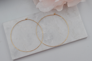 14K Yellow Gold Filled Classic Large Hoop Earrings