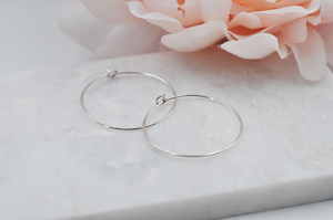 Elegant Small Sterling Silver Hoop Earrings