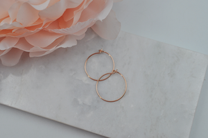 Mini 14K Rose Gold Filled Hoops