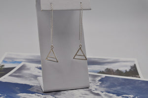 Air Element Threader Earrings in Sterling Silver