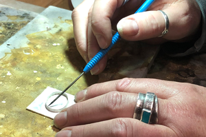 TUESDAY NIGHTS: May 4th - May 25th • Hammered Silver Ring Band & Stone Pendant
