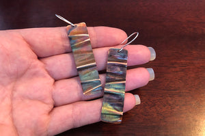 Sunday, April 25th • Fire Painted Copper Wave Earrings