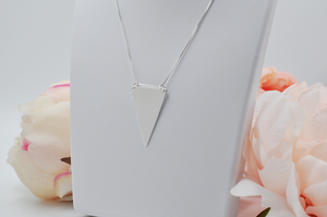Simple Triangle Silver Necklace