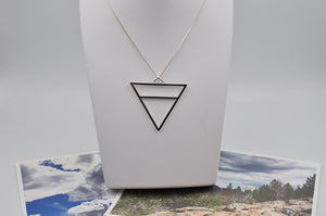 Large Earth Element Necklace in Sterling Silver