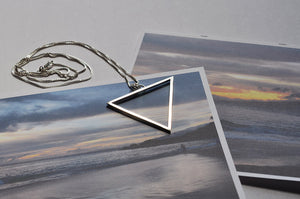 Large Sterling Silver Water Element Necklace