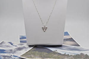 Mini Earth Element Necklace in Sterling Silver
