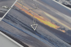 Mini Sterling Silver Water Element Necklace