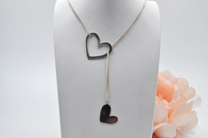 Open Heart Lariat Necklace