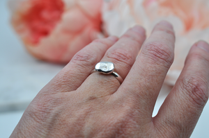 Sterling Silver Nugget Ring