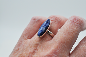 Sterling Silver and Sodalite Claira Ring