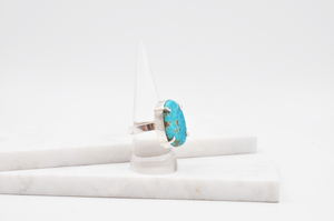 Bold Blue Tonopah Turquoise and Sterling Silver Ring