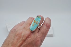 Long Oval Royston Turquoise Statement Ring