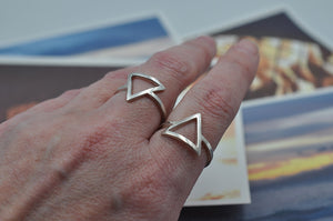 Fire - Water Element Ring in Sterling Silver