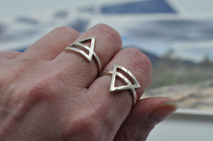 Earth - Air Element Ring in Sterling Silver