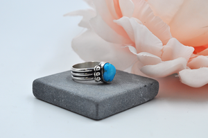 Morenci Turquoise and Sterling Silver Ring