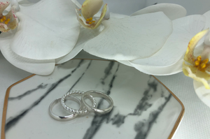 SUNDAY, March 21st • Create Three Sterling Silver Stacking Rings
