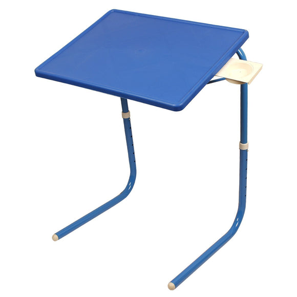 Graphitos Multi Purpose Foldable And Adjustable Table Mate With Cup Holder-Blue