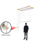 Graphitos Luxury Ceiling Cloth Drying Hanger with One by One Drop Down Rods (6 Lines) (7 Feet)