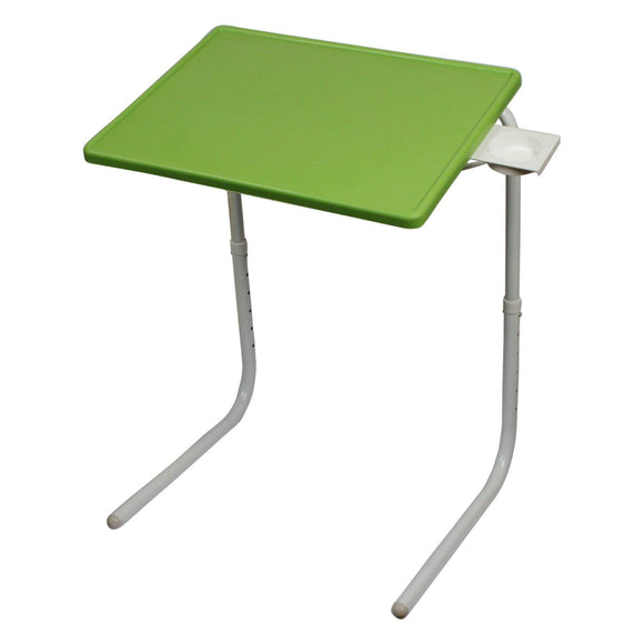 Graphitos Multi Purpose Foldable And Adjustable Table Mate With Cup Holder - Green