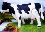 "Graphitos Milk Cow Moving Legs & Shake Tail Make Sound Big Size 12"" Toy Gift for Kids"