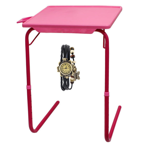 Graphitos Multi Purpose Foldable And Adjustable Table With Cup Holder