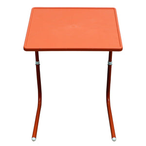 Graphitos Multi Purpose Foldable And Adjustable Table Mate With Cup Holder-ORANGE