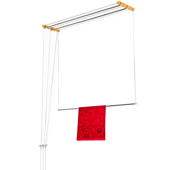 Graphitos Luxury Ceiling Cloth Drying Hanger with One by One Drop Down Rods (3 Lines) (4 Feet)