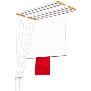 Graphitos Luxury Ceiling Cloth Drying Hanger with One by One Drop Down Rods 6 lines