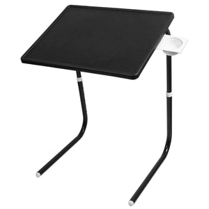 Graphitos Multi Purpose Foldable And Adjustable Table Mate With Cup Holder - BLACK