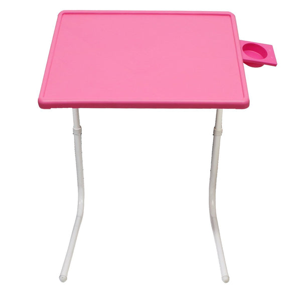 Graphitos Multi Purpose Foldable And Adjustable Table Mate With Cup Holder-PINK